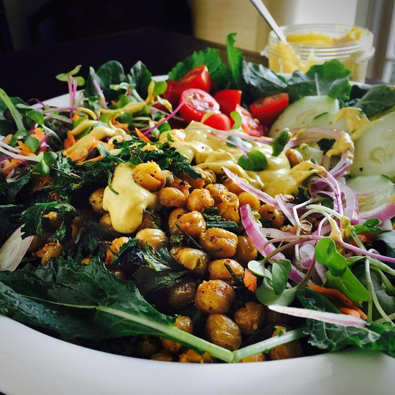Roasted chickpeas salad