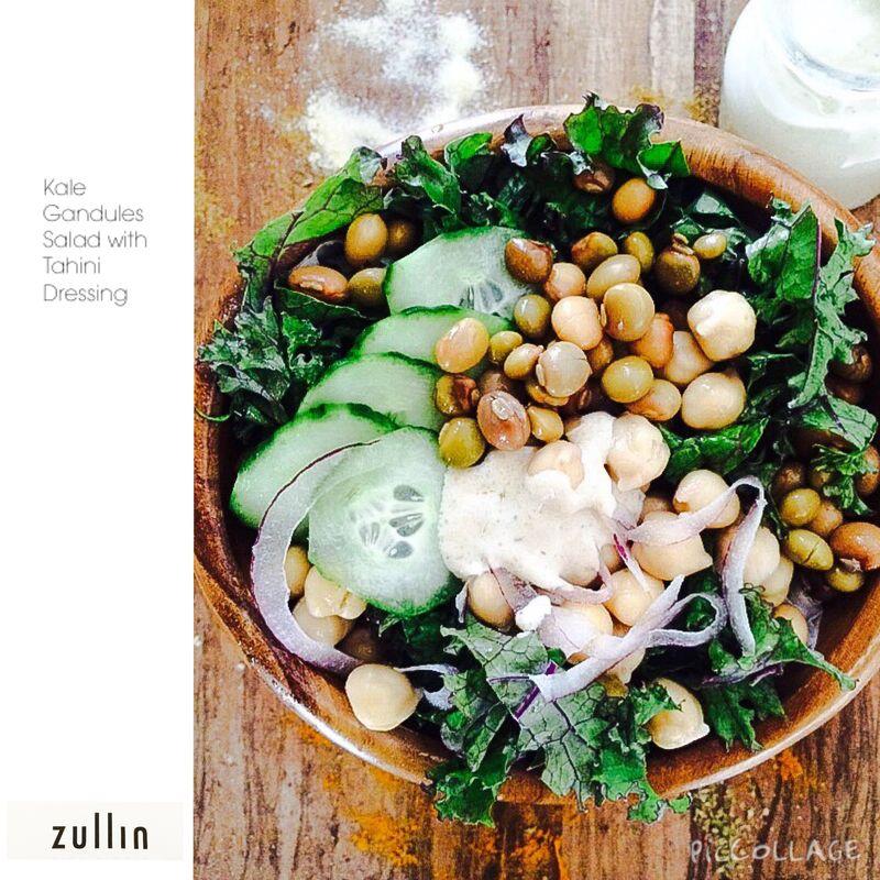 Kale Gandules salad