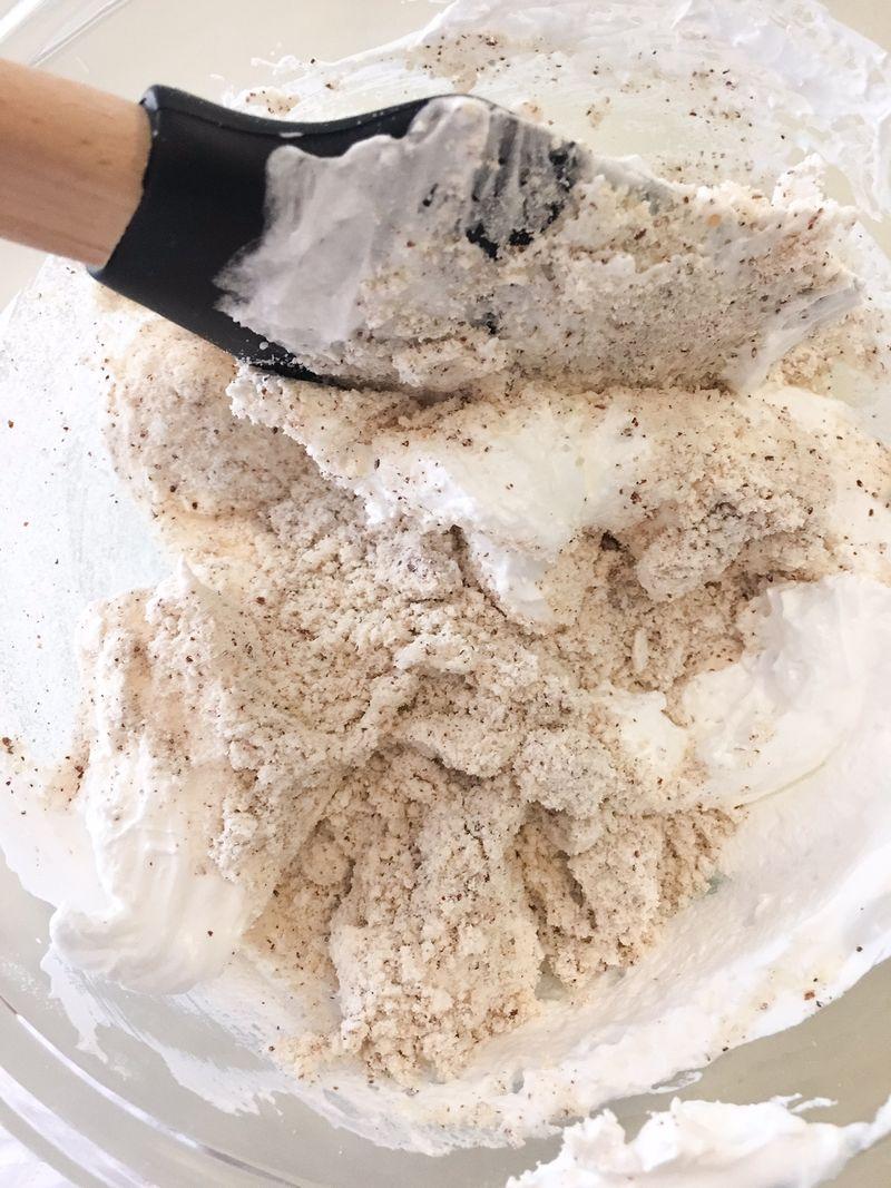 Folding flour