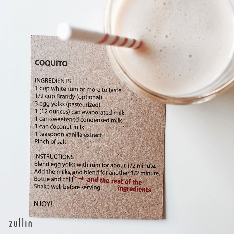 Coquito with recipe